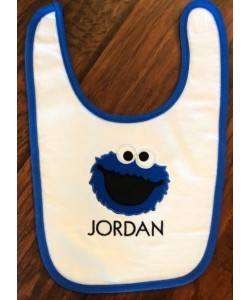 cookie monster face applique