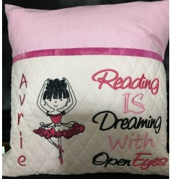 Ballerina with reading is dreaming