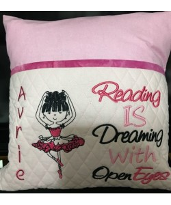 Ballerina with reading is dreaming 2 designs 3 sizes