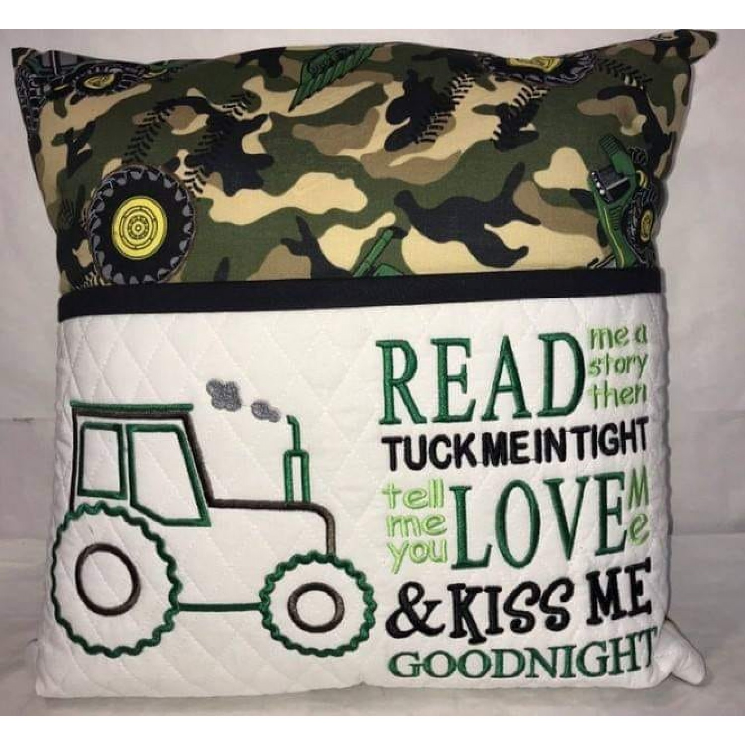 tractor applique with read me a story 2 designs 3 sizes