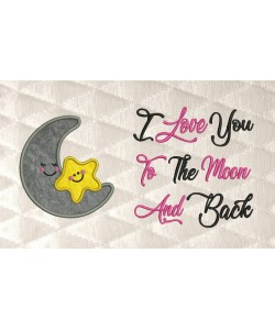 moon and star I Love You to the Moon