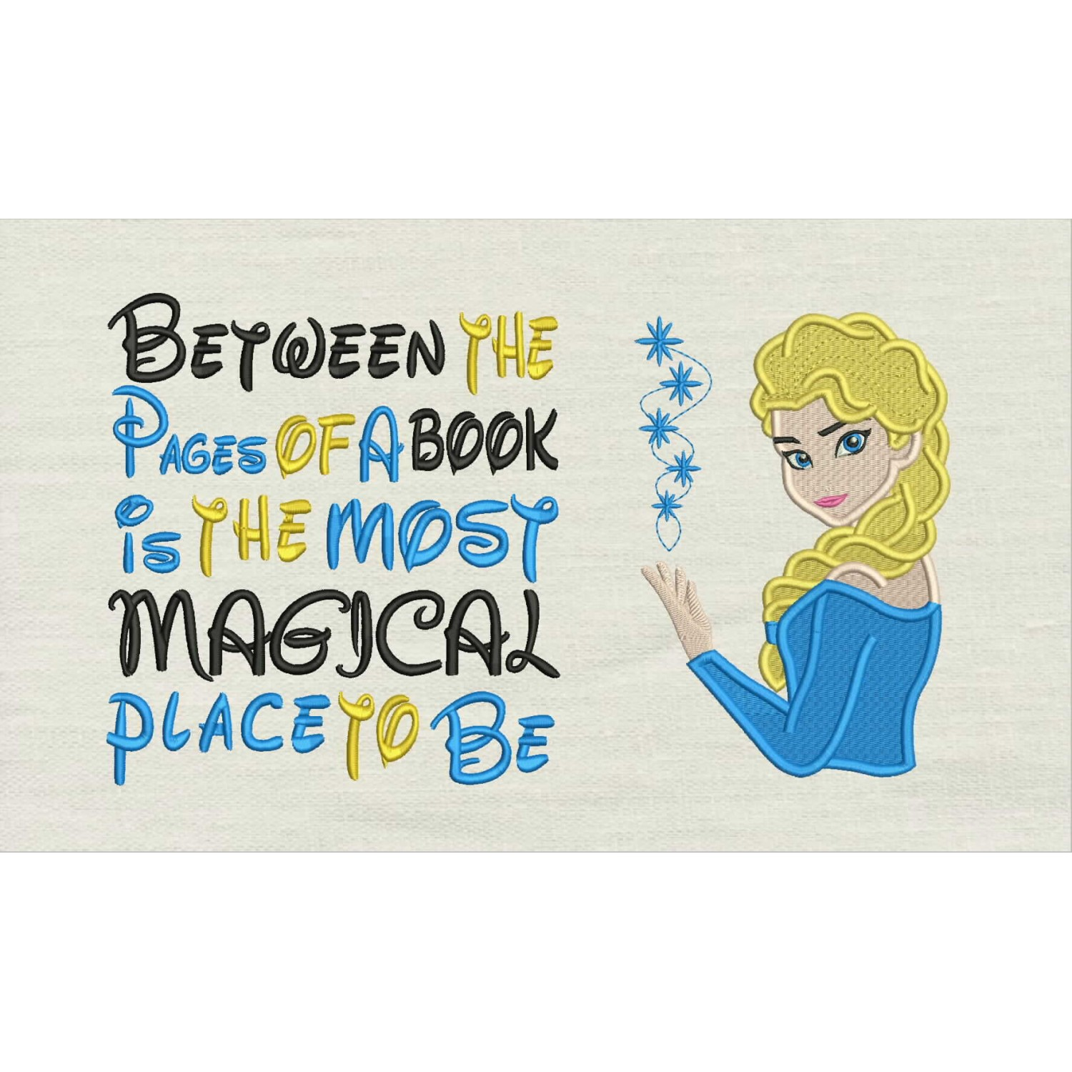 Elsa Frozen Embroidery v2 with Between the Pages