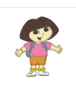 dora applique embroidery design