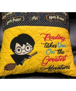 harry potter reading takes you reading pillow