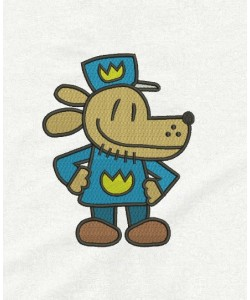 Dog Man embroidery design
