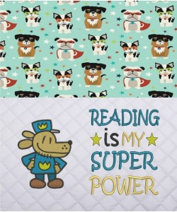 Dog Man with Reading is My Superpower v2