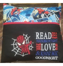 spiderman read me a story reading pillow