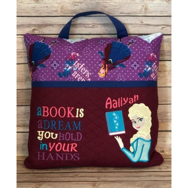 Elsa Frozen a book is a dream reading pillow