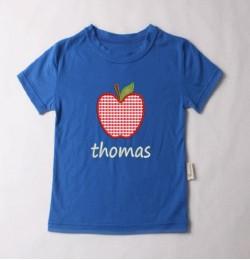 Apple applique embroidery design