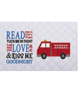 fire truck read me a story reading pillow