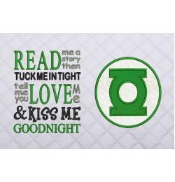Green lantern Logo read me a story reading pillow