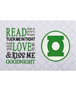 Green lantern Logo read me a story reading pillow