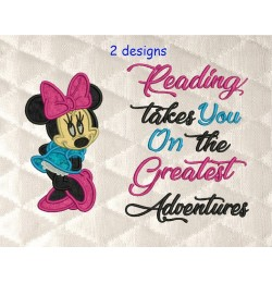 Minnie mouse with reading takes you