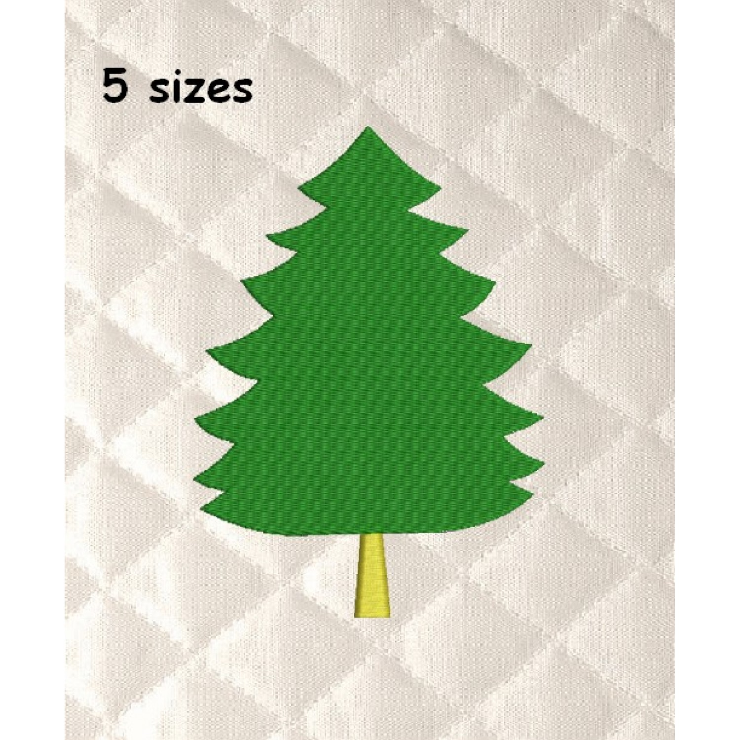 tree christmas embroidery 5 sizes