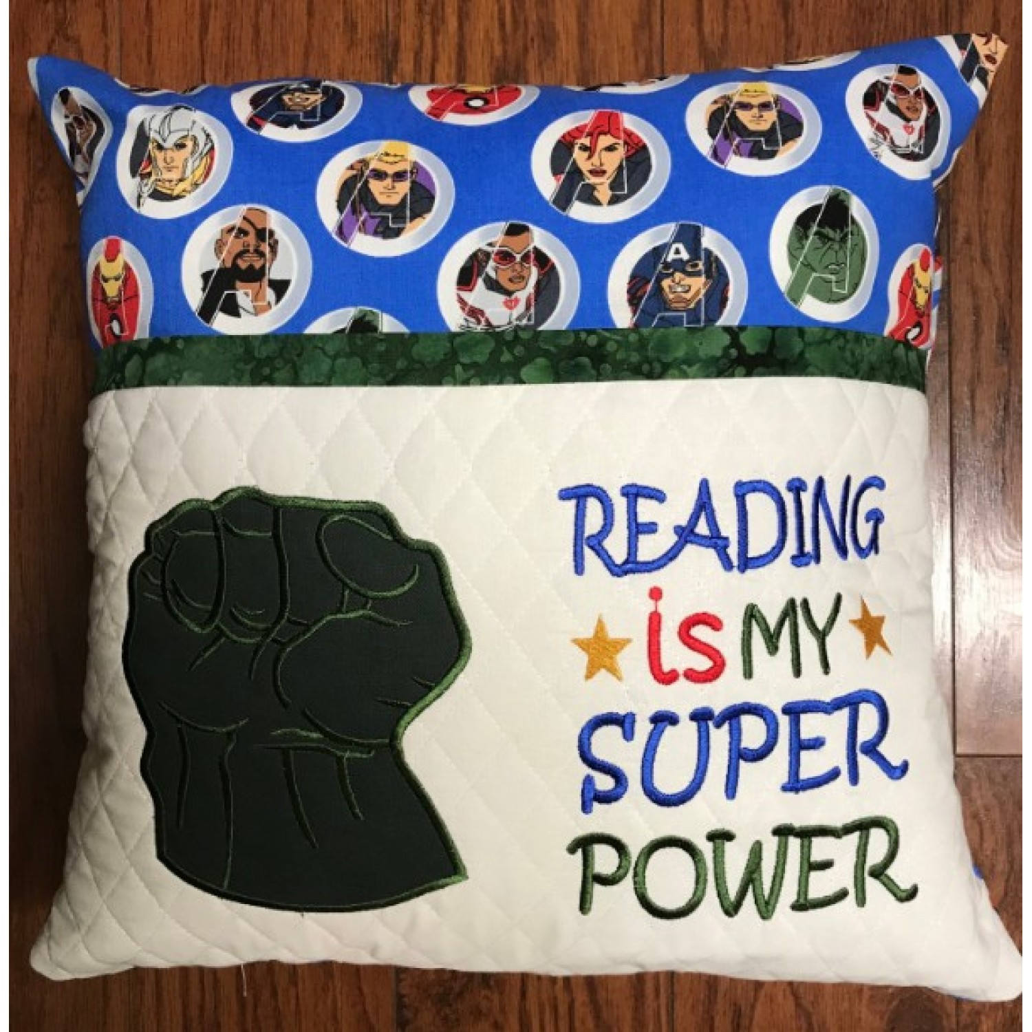 Hulk Fist applique with Reading is My Superpower v2 2 designs 3 sizes