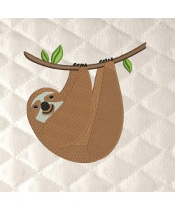 sloth embroidery