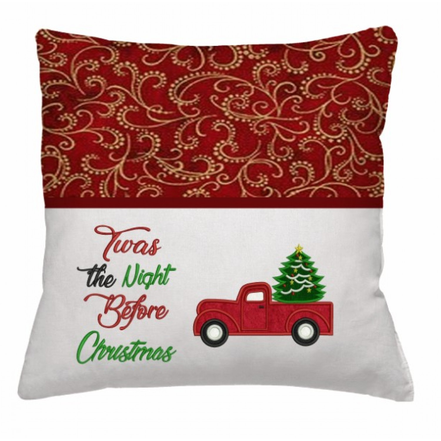 Christmas Truck applique with Twas the Night 2 designs 3 sizes