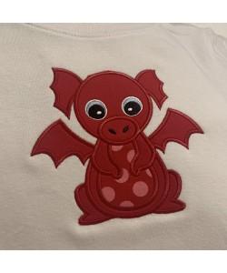 Baby Dragon Applique Design