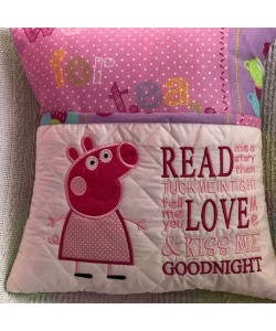 Peppa Pig applique with read me a story