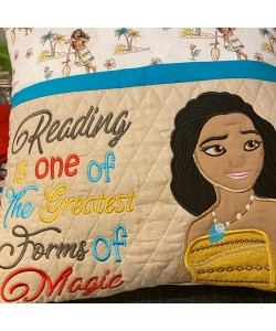 Moana with reading is one of embroidery