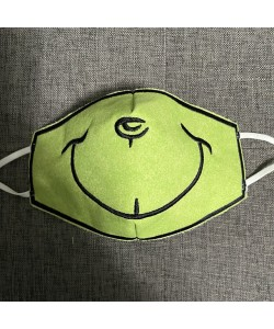 Face Mask grinch For kids and adult in the hoop embroidery