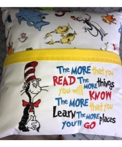 Dr. Seuss embroidery with the more that you read 2 designs 3 sizes