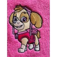 Skye paw patrol embroidery design