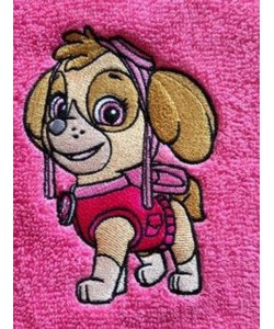 Skye paw patrol embroidery design
