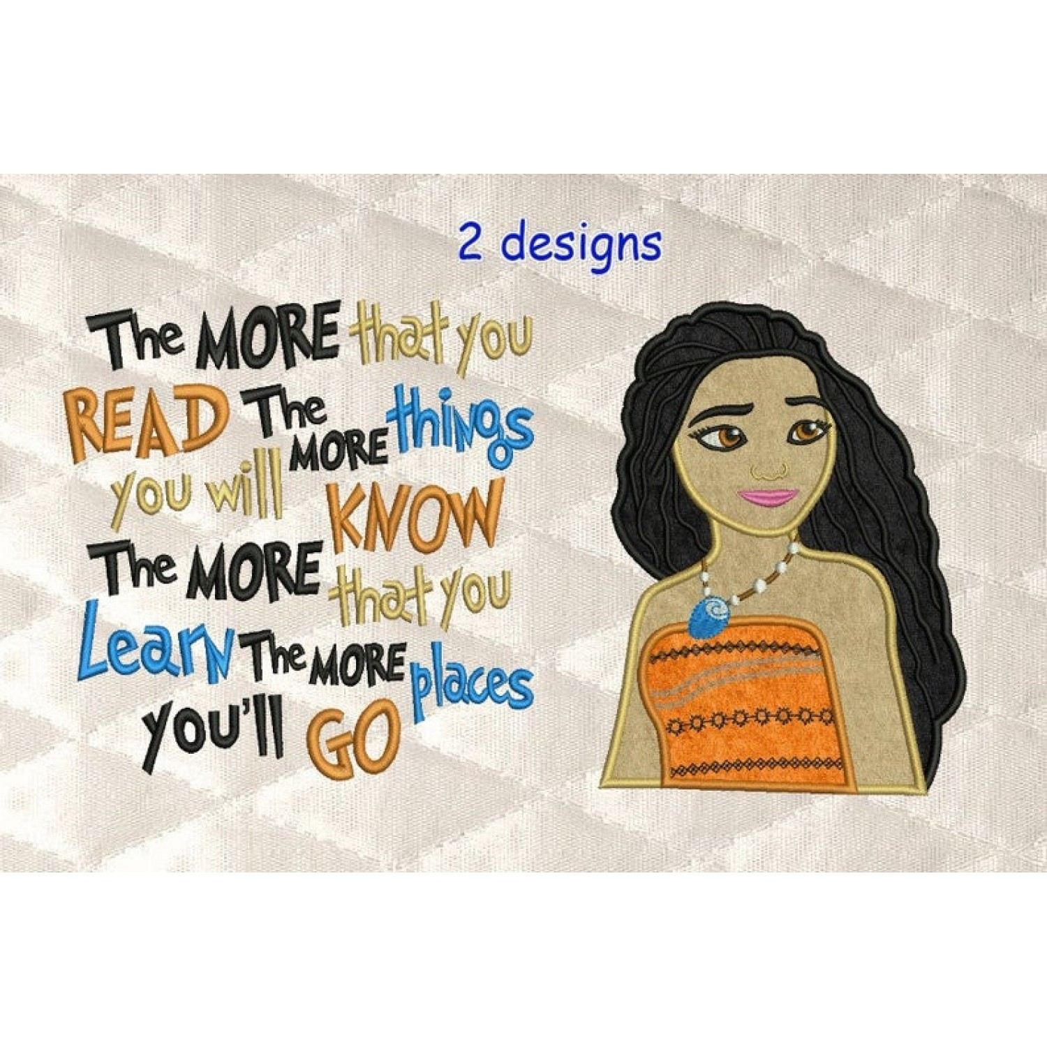 Moana Applique with the more that you read 2 designs 3 sizes