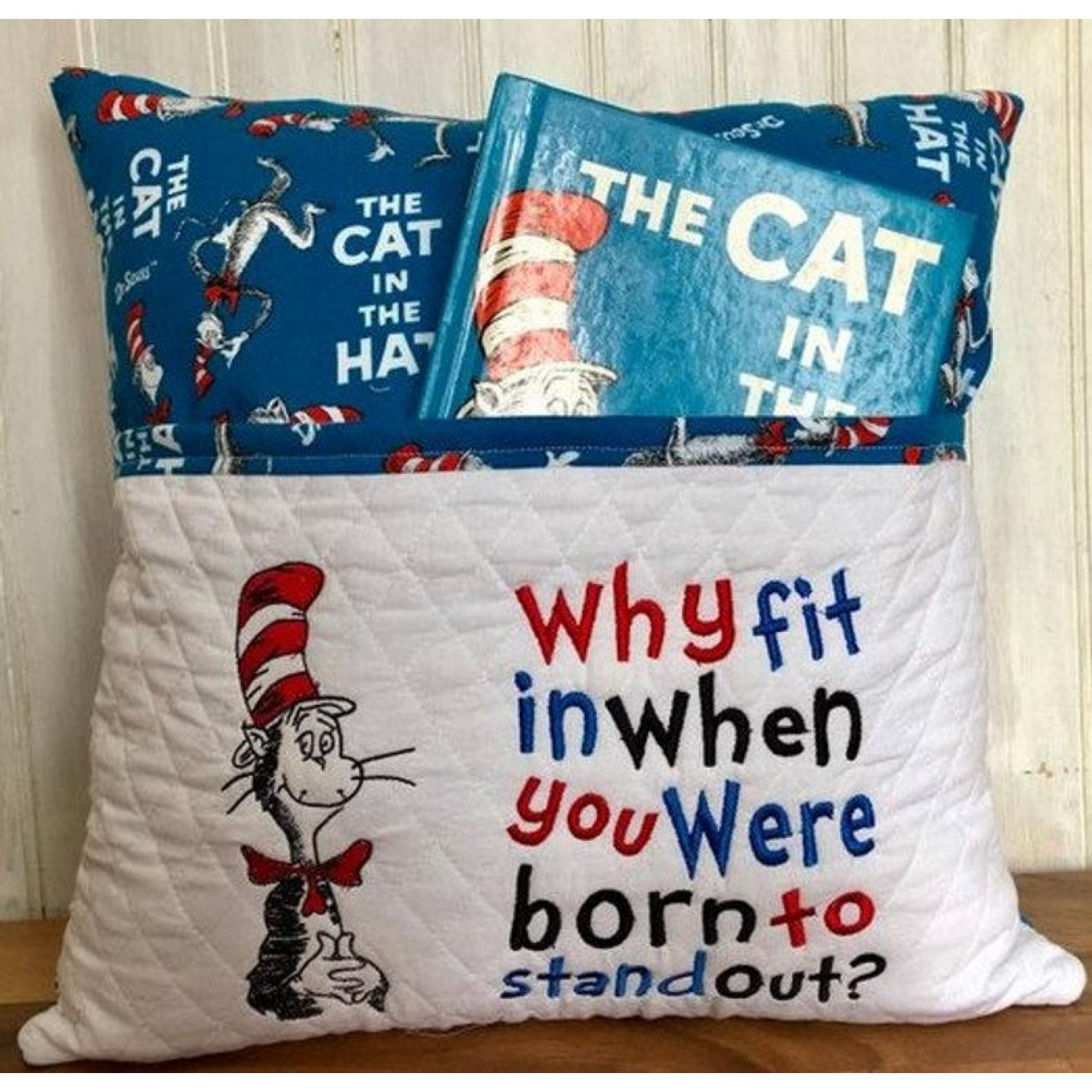 Dr. Seuss embroidery with why fit 2 designs 3 sizes