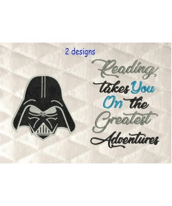 Star Wars applique with reading takes you 2 designs 3 sizes