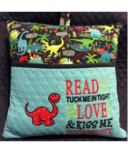 dinosaur applique with read me a story 2 designs 3 sizes