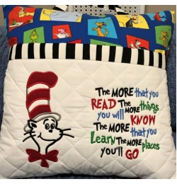 Dr. Seuss applique with the more that you read 2 designs 3 sizes