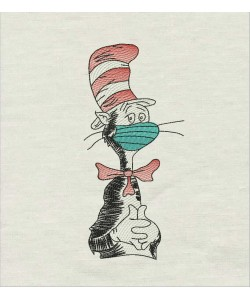 The cat in the hat mask